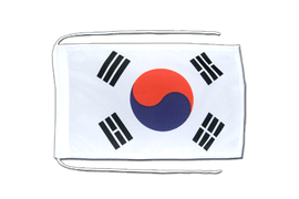 South Korea - Flag with ropes 8x12""