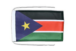 Southern Sudan - Flag with ropes 8x12""