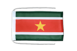 Suriname - Flag with ropes 8x12""