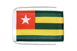 Togo - Flag with ropes 8x12""