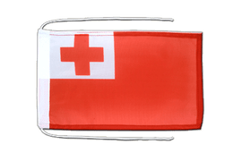 Tonga - Flag with ropes 8x12""