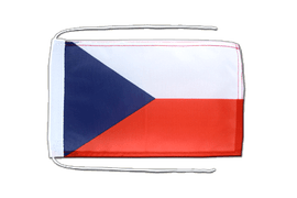 Czech Republic - Flag with ropes 8x12""