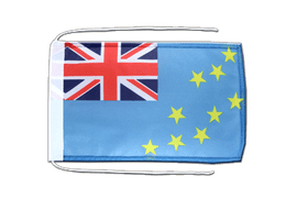 Tuvalu - Flag with ropes 8x12""