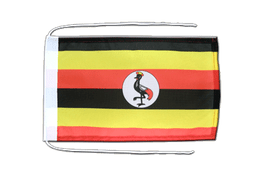 Uganda - Flag with ropes 8x12""
