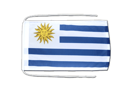 Uruguay - Flag with ropes 8x12""