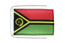 Vanuatu - Flag with ropes 8x12""