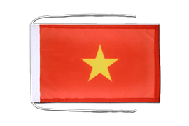 Vietnam - Flag with ropes 8x12""