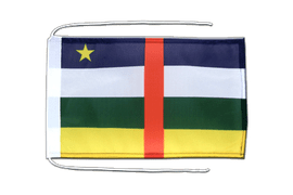 Central African Republic - Flag with ropes 8x12""
