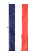 France Vertical Hanging Flag - approx 2 x 6 ft - 80 x 200 cm