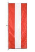 Austria Vertical Hanging Flag - approx 2 x 6 ft - 80 x 200 cm