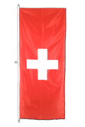 Vertical Hanging Flag Switzerland - approx 2 x 6 ft