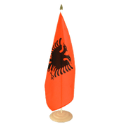 "Albania - Large Table Flag 12x18"", wooden"