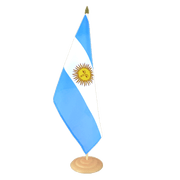 "Argentina - Large Table Flag 12x18"", wooden"