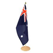 Grand drapeau de table Australie en bois - 30 x 45 cm