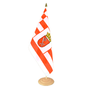 "Bremen - Large Table Flag 12x18"", wooden"