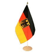 Large Germany Dienstflagge Table Flag, wooden - 12x18""
