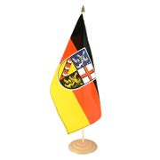"Saarland - Large Table Flag 12x18"", wooden"
