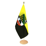 Large Saxony-Anhalt Table Flag, wooden - 12x18""
