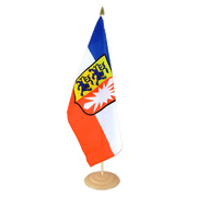 "Schleswig-Holstein - Large Table Flag 12x18"", wooden"