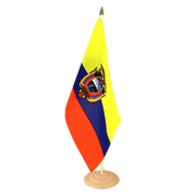 "Ecuador - Large Table Flag 12x18"", wooden"