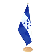 Grand drapeau de table Honduras en bois - 30 x 45 cm