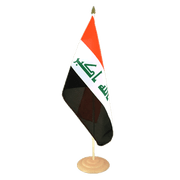 "Iraq 2009 - Large Table Flag 12x18"", wooden"