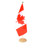 Grand drapeau de table Canada en bois - 30 x 45 cm
