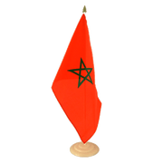 "Morocco - Large Table Flag 12x18"", wooden"