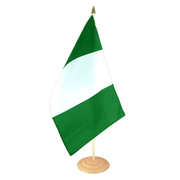 Grand drapeau de table Nigeria en bois - 30 x 45 cm