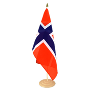 Large Norway Table Flag, wooden - 12x18""