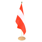 "Austria - Large Table Flag 12x18"", wooden"
