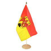 "Burgenland - Large Table Flag 12x18"", wooden"