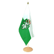 "Styria - Large Table Flag 12x18"", wooden"