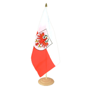 "Tyrol - Large Table Flag 12x18"", wooden"