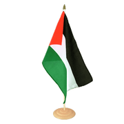 "Palestine - Large Table Flag 12x18"", wooden"