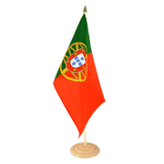 Grand drapeau de table Portugal en bois - 30 x 45 cm