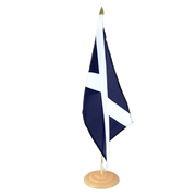 Grand drapeau de table Ecosse navy en bois - 30 x 45 cm