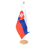 Large Slovakia Table Flag, wooden - 12x18""