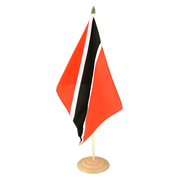 "Trinidad and Tobago - Large Table Flag 12x18"", wooden"