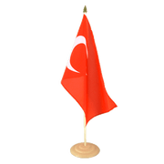 "Turkey - Large Table Flag 12x18"", wooden"
