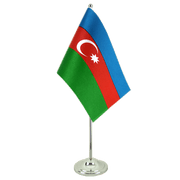 Azerbaijan - Satin Table Flag 6x9""