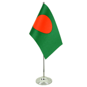 Satin Bangladesh Table Flag - 6x9""