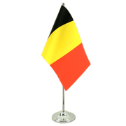 Belgium - Satin Table Flag 6x9""
