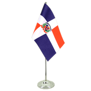 Dominican Republic - Satin Table Flag 6x9""