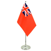 Red Ensign - Satin Table Flag 6x9""