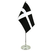 Satin St. Piran Cornwall Table Flag - 6x9""
