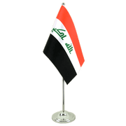 Iraq 2009 - Satin Table Flag 6x9""