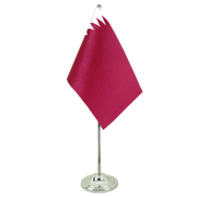 Qatar - Satin Table Flag 6x9""