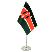 Kenya - Satin Table Flag 6x9""