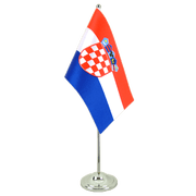 Drapeau de table prestige Croatie - 15 x 22 cm
